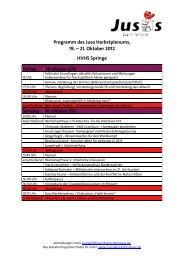 Vorläufiges Programm Herbstplenum 2012 - Jusos Niedersachsen ...