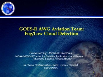 Fog/Low Cloud Detection - GOES-R