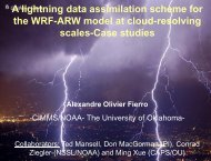 A lightning data assimilation scheme for the WRF-ARW ... - GOES-R