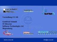Vorstellung des Kompetenzzentrums für Softwareengineering