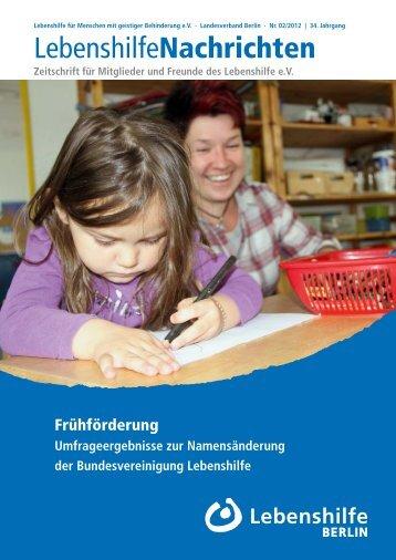 Lebenshilfe Nachrichten 2/20112 - Lebenshilfe Berlin