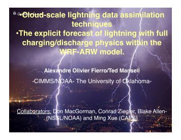 • Cloud-scale lightning data assimilation techniques • The ... - GOES-R