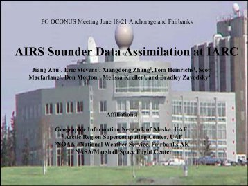 AIRS Sounder Data Assimilation at IARC - GOES-R