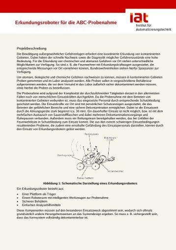 Erkundungsroboter ABC-Probenahme - IAT