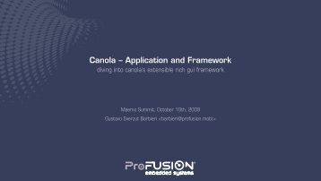Canola -- Application and Framework - Gustavo Sverzut Barbieri