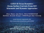 Ocean Surface Currents from SST - GOES-R