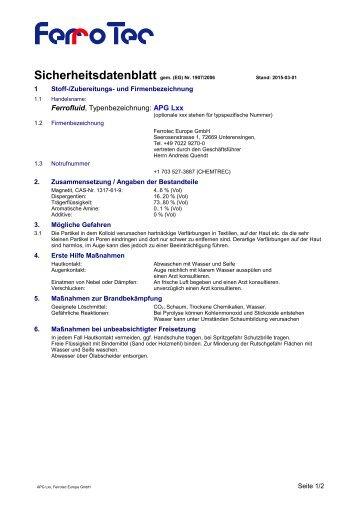 APG L Serie - FerroTec GmbH