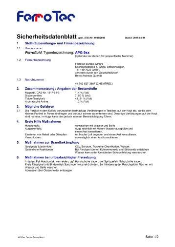 APG 900 Serie - FerroTec GmbH
