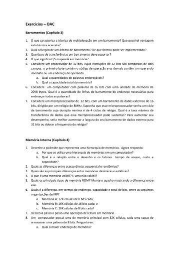 Lista de Exercícios - INF-Unioeste