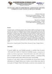 ESCOLAS DO CAMPO NO TERRITÓRIO DO ... - LAGEA