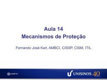 Aula 14 Mecanismos de Proteção - Unisinos