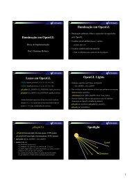 Modelos de Iluminação e sombreamento - OpenGL. - Unisinos
