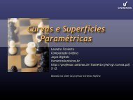 Curvas e Superfícies Paramétricas - Unisinos