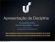 Apresentação da disciplina - Unisinos
