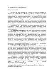 Do regulamento do TCC (Bacharelados) Característica ... - Unisinos