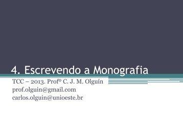 4. Escrevendo a Monografia - INF-Unioeste