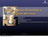 Revisão sobre Programação Orientada a Objeto e ... - Unisinos