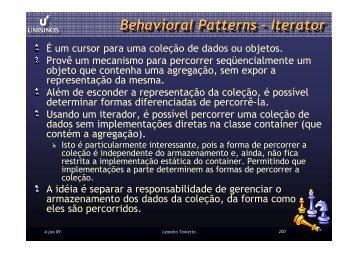 Iterator - Unisinos