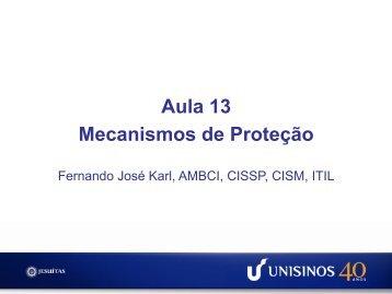 Aula 13 Mecanismos de Proteção - Unisinos