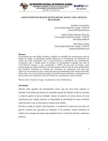 assentamentos rurais no estado do amapá: uma visão da ... - LAGEA