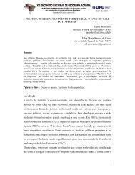 POLÍTICA DE DESENVOLVIMENTO TERRITORIAL: O ... - LAGEA