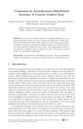 Consensus in Asynchronous Distributed Systems: A Concise ...