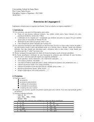 Exercícios de Linguagem C