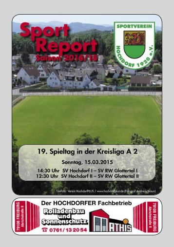 Sport Report - SV Hochdorf - Sonntag 15.03.2015