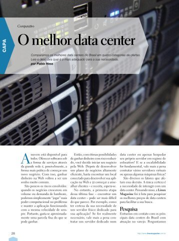 O melhor data center - Linux New Media