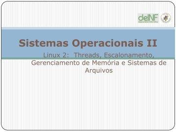 Sistemas Operacionais II - DEINF/UFMA