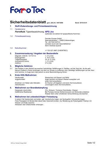 APG J Serie - FerroTec GmbH