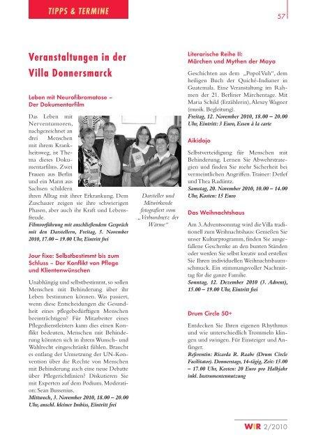 Barierefreies Shoppen; WIR - Magazin der Fürst Donnersmarck - FPZ