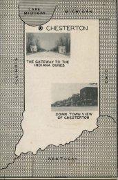 Chesterton Retail Merchants' Directory, 1949 - Porter County, Indiana
