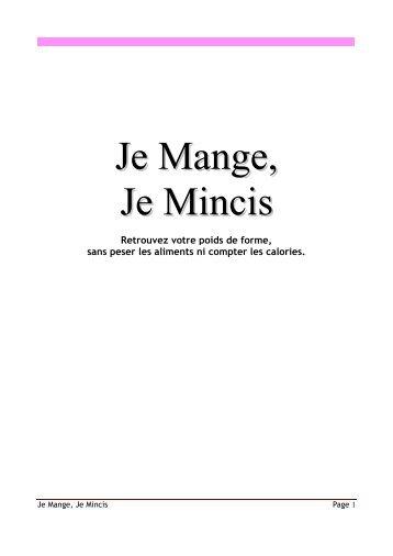 La Méthode Je Mange, Je Mincis par Florence Delamare | Livre PDF