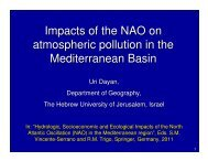 Impacts of the NAO on atmospheric pollution in the ... - Medclivar