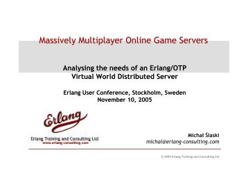 Massively Multiplayer Online Game Servers - Erlang Solutions