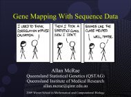 Gene mapping with sequence data (Allan McRae)