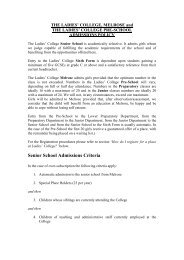 Senior School Admissions Criteria - Ladies College, Guernsey