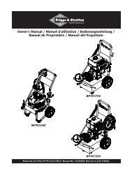 Owner's Manual / Manuel d'utilisation ... - Briggs & Stratton
