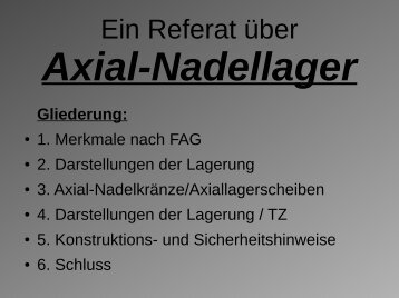 Axial-Nadellager