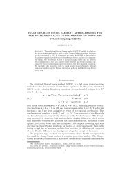 FULLY DISCRETE FINITE ELEMENT APPROXIMATION FOR THE ...