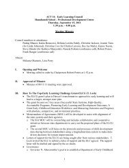 9/15/11 minutes (PDF) - Early Learning Council