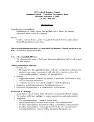 11/18/10 notes (PDF) - Early Learning Council