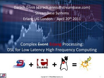 StreamBase - Erlang Solutions