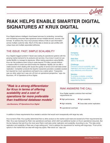 RIAK Helps enable smarter digital signatures at ... - Erlang Solutions