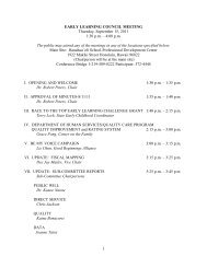 9/15/11 agenda (PDF) - Early Learning Council