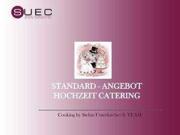 Standart- Angebot Hochzeits Catering 2012