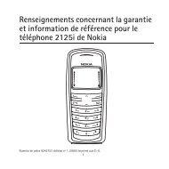 Renseignements concernant la garantie et information de référence ...