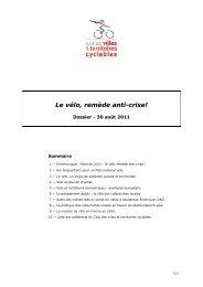 Le vélo, remède anti-crise! - Temis