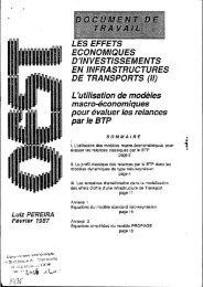 effets économiques d'investissements en infrastructures de ... - Temis